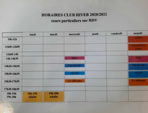 HORAIRES CLUB HIVER 2020/2021